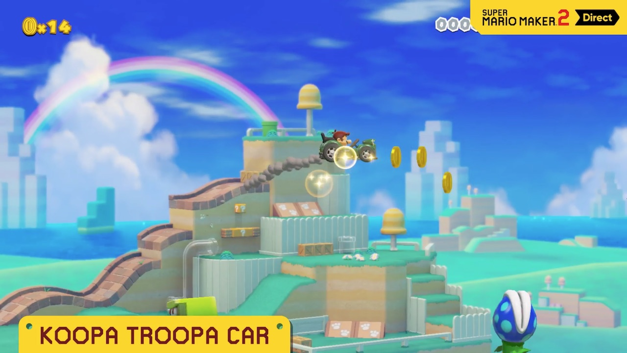 Super Mario Maker 2 Koopa Troopa Car Screenshot