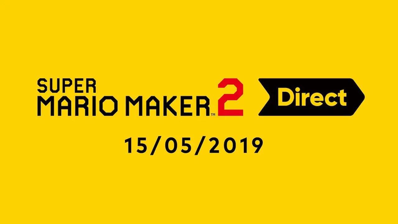 Super Mario Maker 2 Nintendo Direct Logo