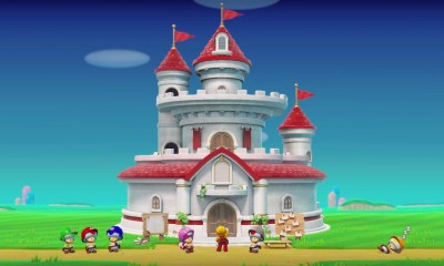 Super Mario Maker 2 Peach's Castle Screenshot