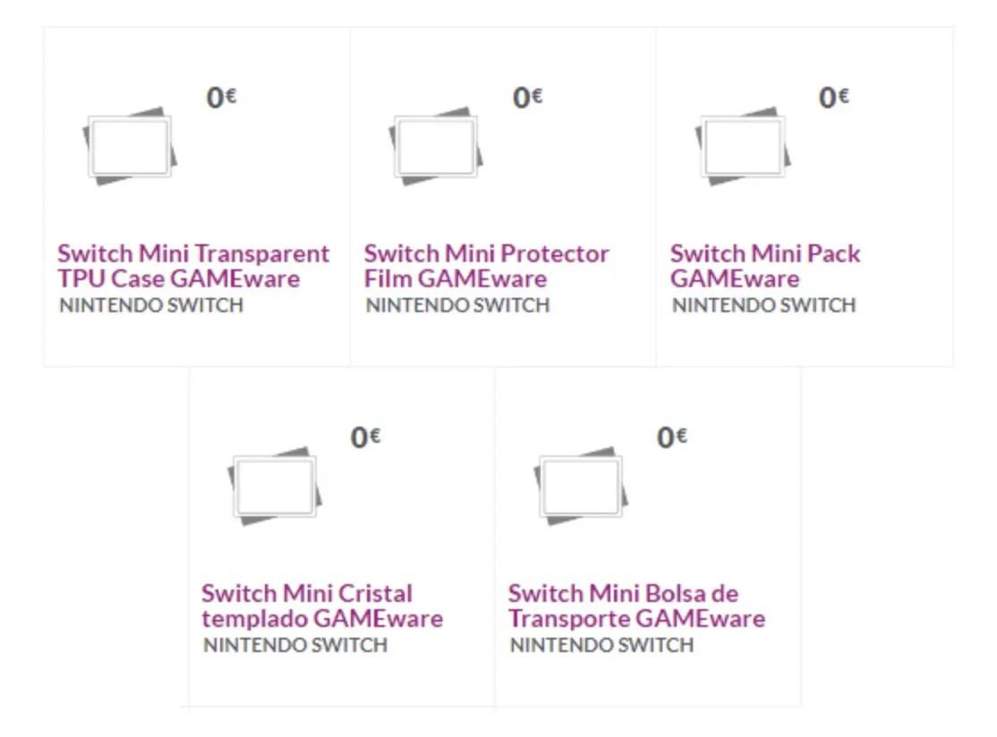 GAME Spain Nintendo Switch Mini Accessories Image