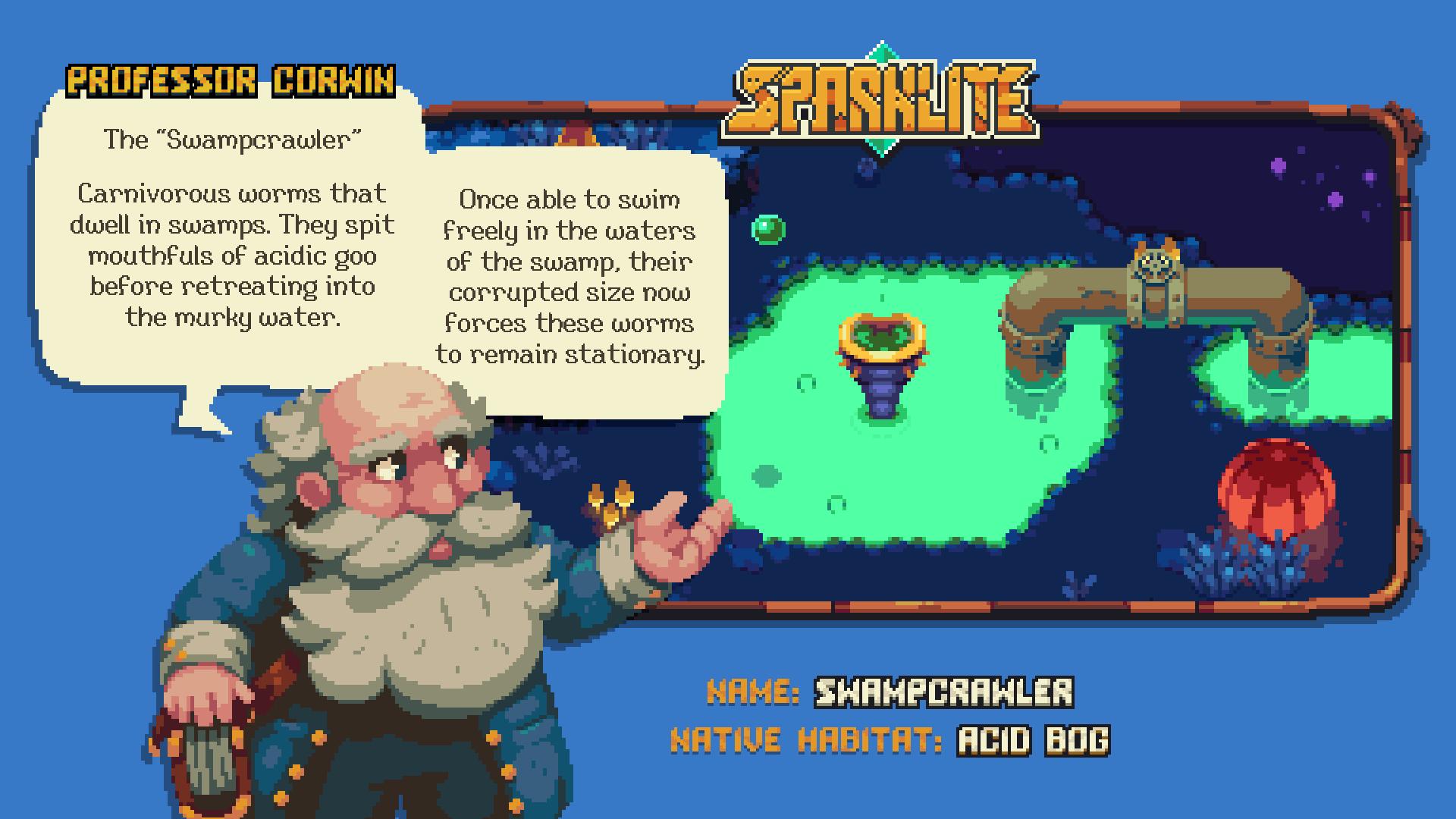 Sparklite Professor Corwin Swampcrawler Screenshot