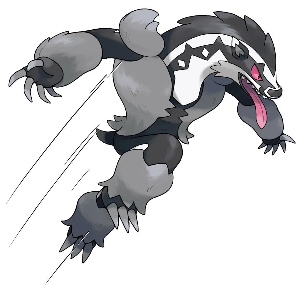 Obstagoon Pokémon Sword and Shield Artwork