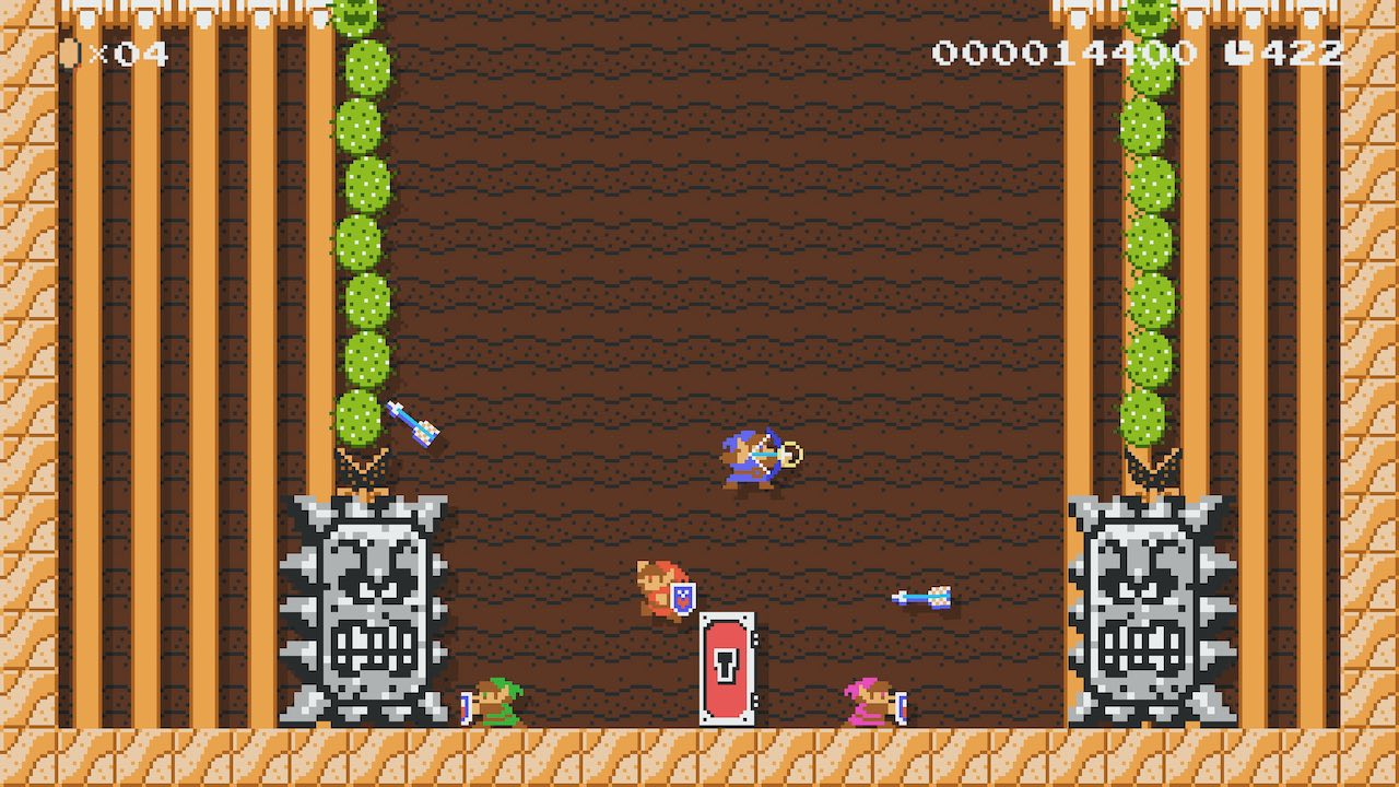 Link Super Mario Maker 2 Screenshot