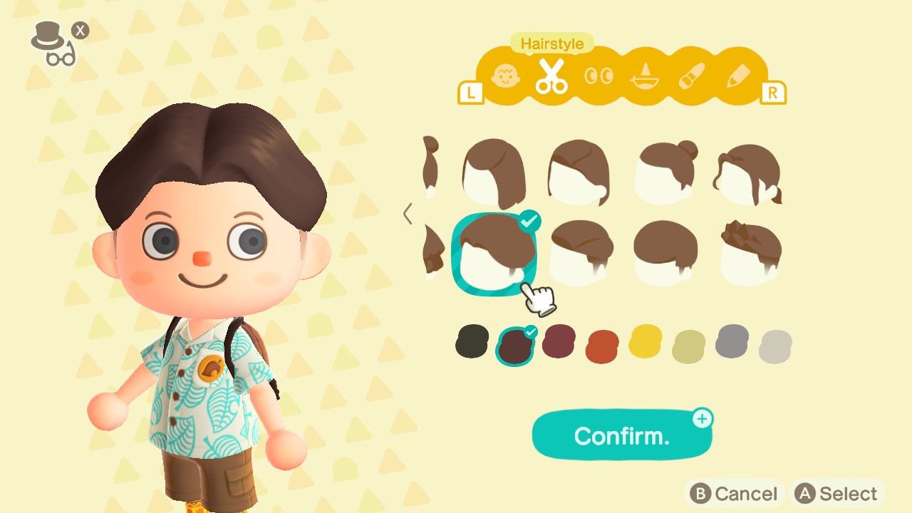 Animal Crossing: New Horizons Top 8 Cool Hairstyles Screenshot