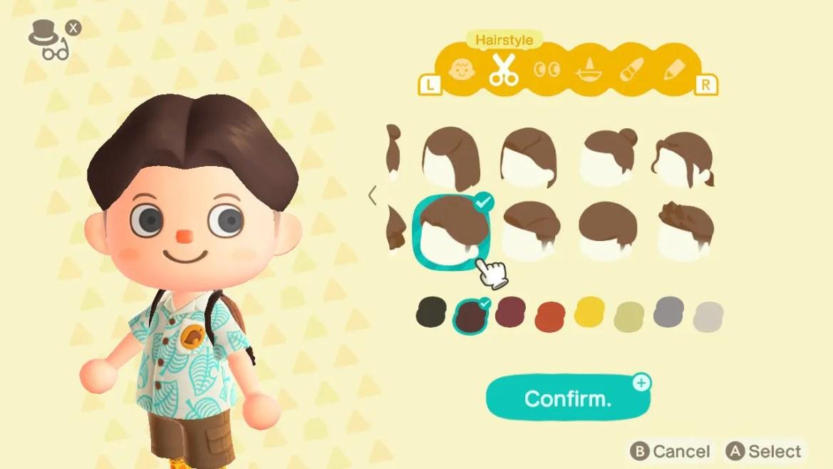 Animal Crossing: New Horizons Top 8 Cool Hairstyles Screenshot