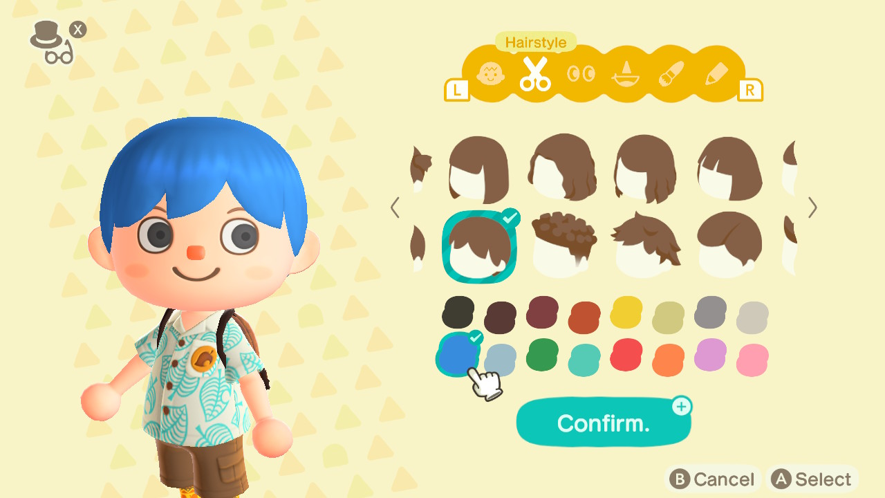 Animal Crossing: New Horizons Top 8 Stylish Hair Colors Screenshot