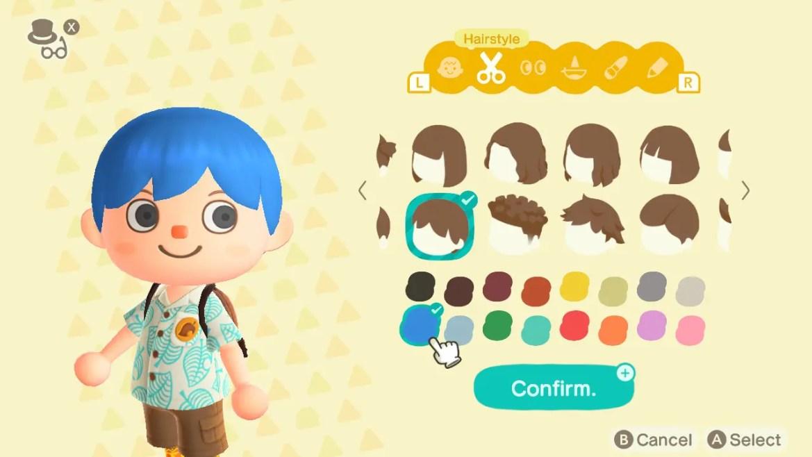 Animal Crossing: New Horizons Top 8 Stylish Hair Colors Screenshot