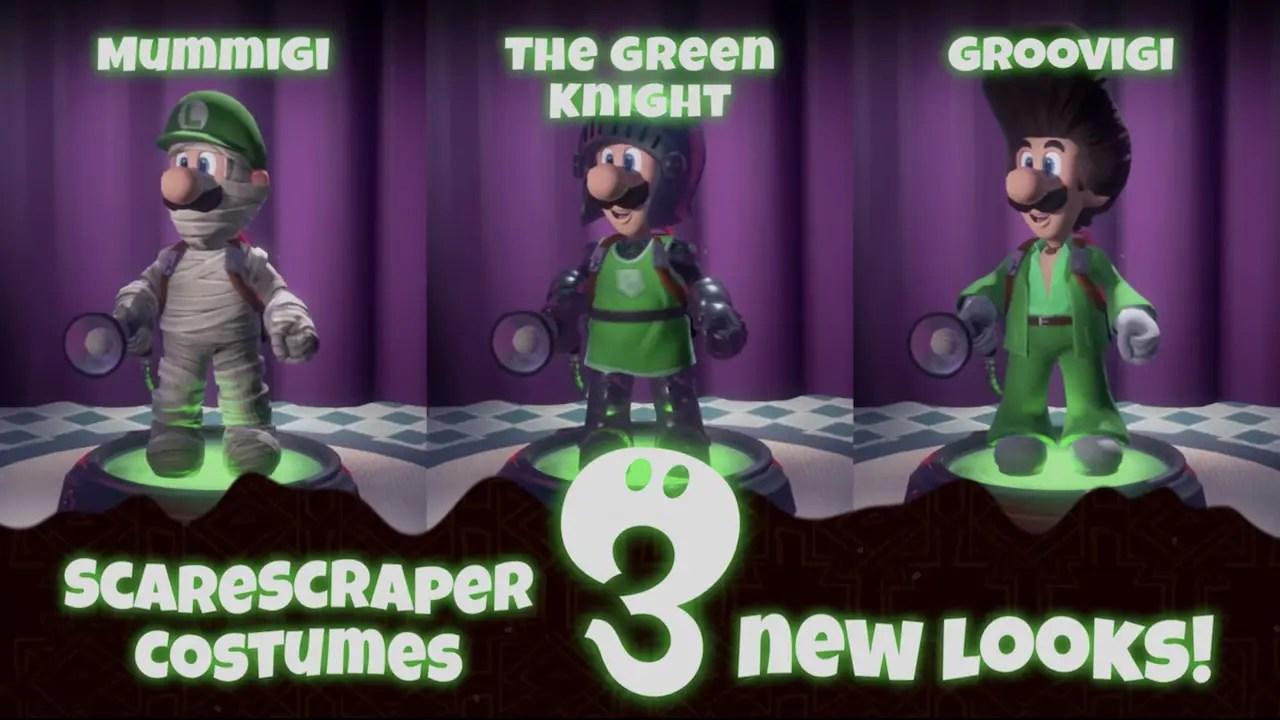Luigi's Mansion 3 Multiplayer Pack Part 1 Costumes Screenshot