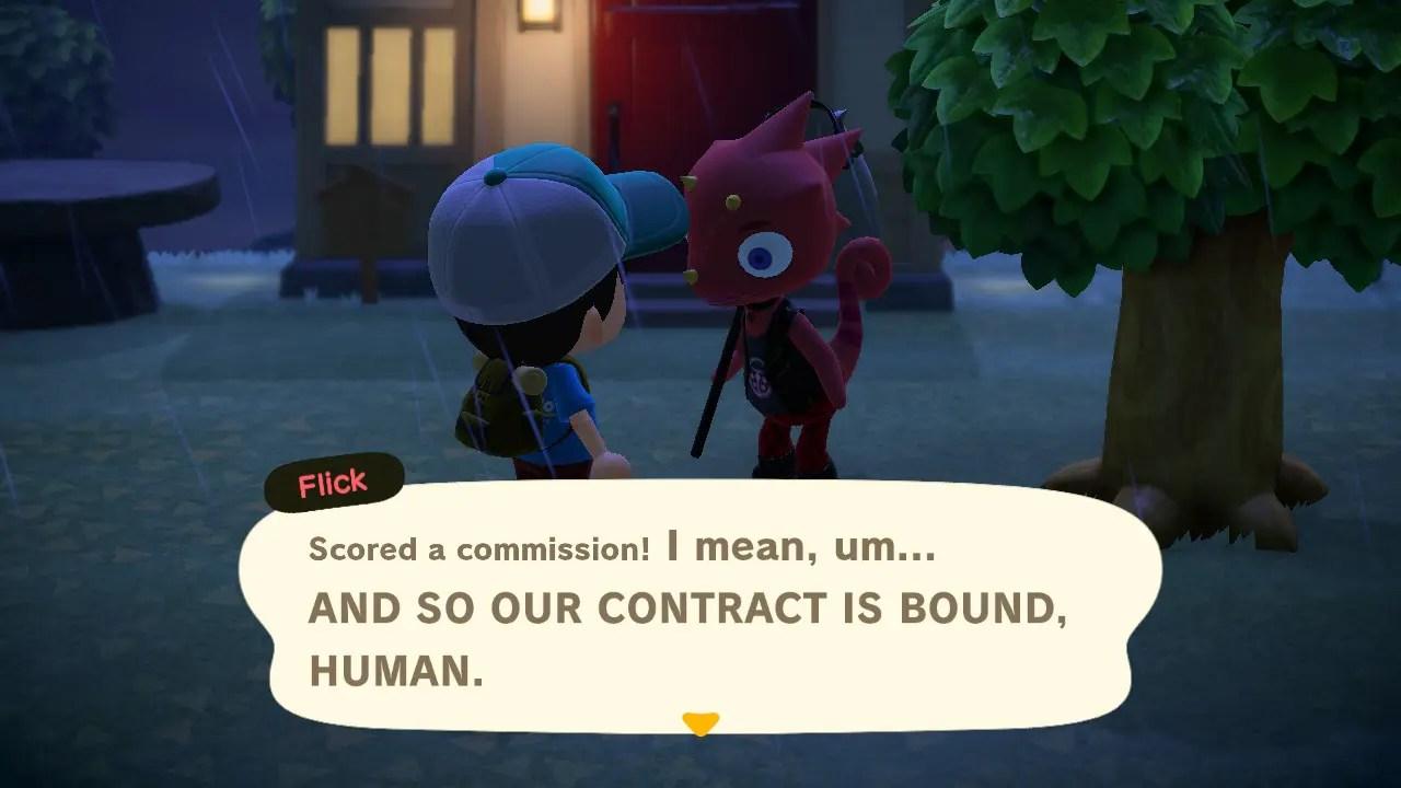 Animal Crossing New Horizons Flick Commission Screenshot