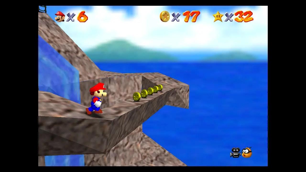 Super Mario 64 Tall, Tall Mountain Screenshot 2