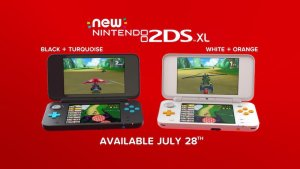 New Nintendo 2DS XL (Orange x White, Black x Turquoise)