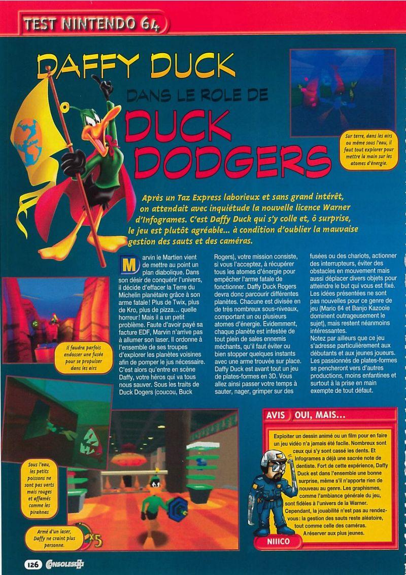 Nintendo64EVER Les Tests Du Jeu Duck Dodgers Starring
