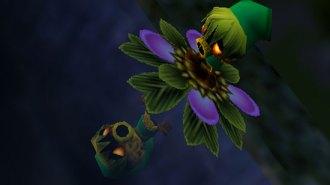 Link es convertido en Deku por Majora.