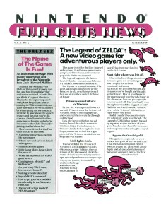 Nintendo Fun Club News - Summer 1987 - p1