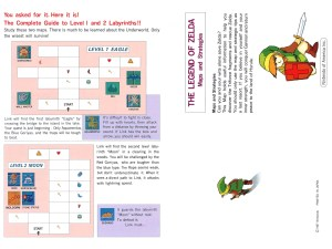 The Legend of Zelda Instruction Booklet - Bonus 2