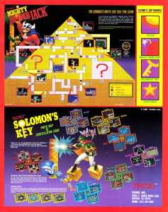 Nintendo Fun Club News | Feb-Mar 1988 Solomons Key Mighty Bomb Jack Ads