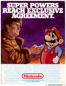 Nintendo Partners On Tetris | Credit Video Game Ephemera