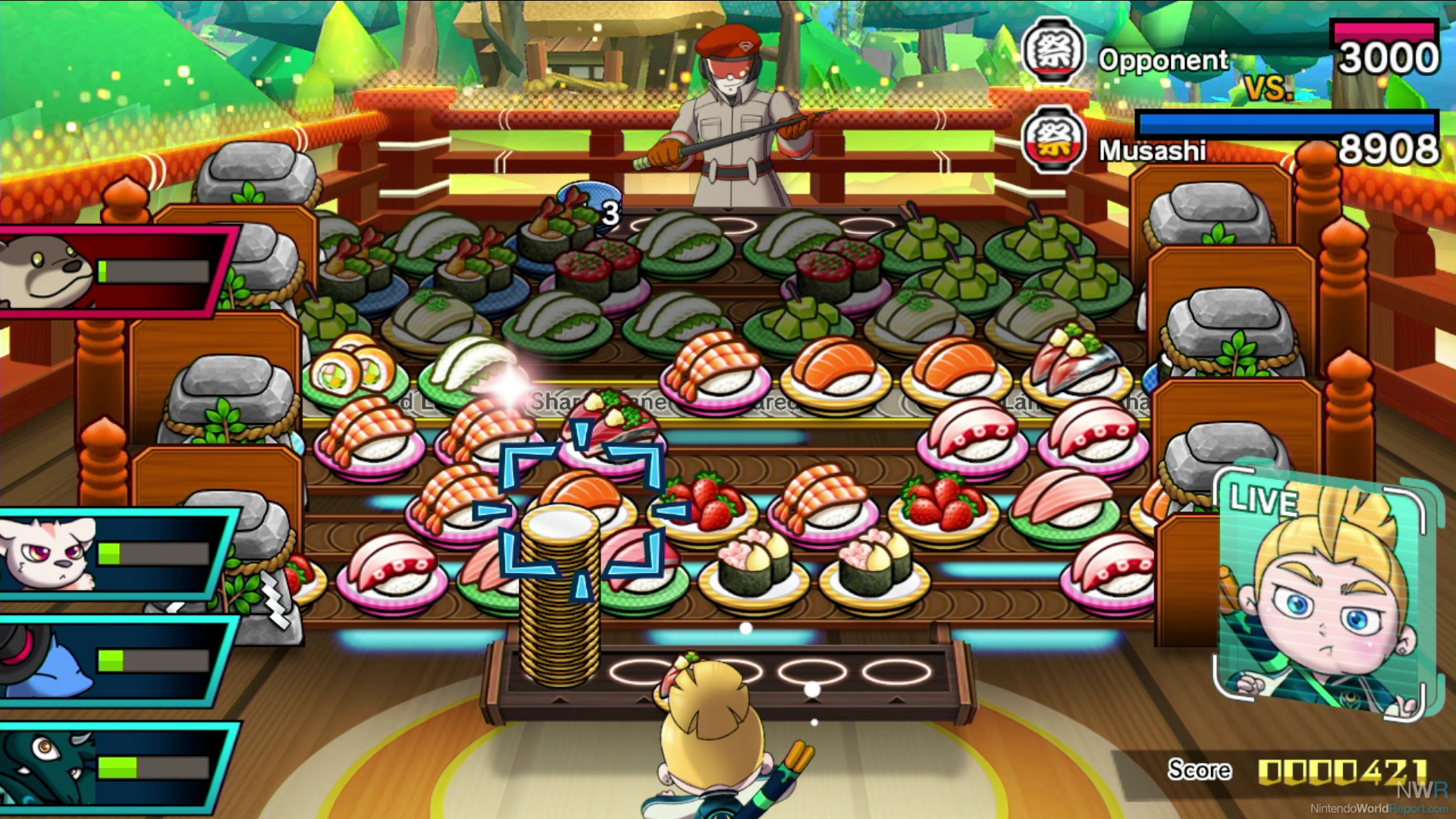 Three Way Switch Animation Sushi Striker The Of Sushido Pax East 2018 Preview Screen Shows Seven Conveyor Belts That Alternate In Direction Are On Your Side Opponents With One Shared Middle