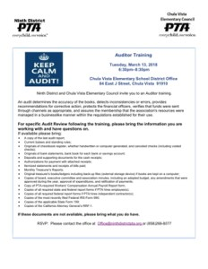 Auditor Training Flyer