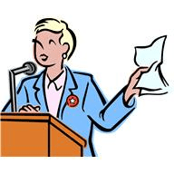 Person at Podium clipart
