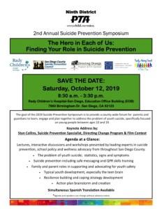 Suicide Prevention flyer