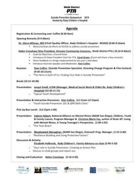 2nd Ann Suicide Prev Agenda