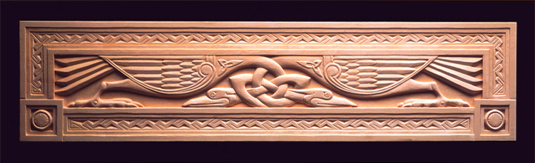 Celtic Birds carving in basswood.