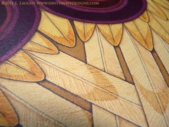 Seraphim Icon: Detail of feathers.