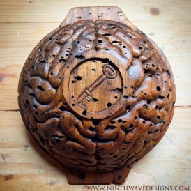 Exterior of the Bowl of Remembering: Hand carved from wormy butternut.