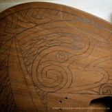 Here the drawing is transferred onto the wood.
