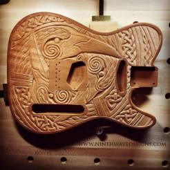 The completed carving.