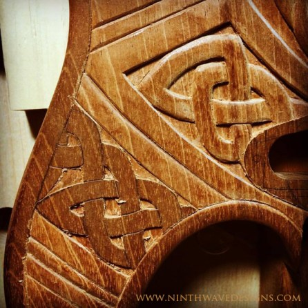 A detail of carving knotwork.