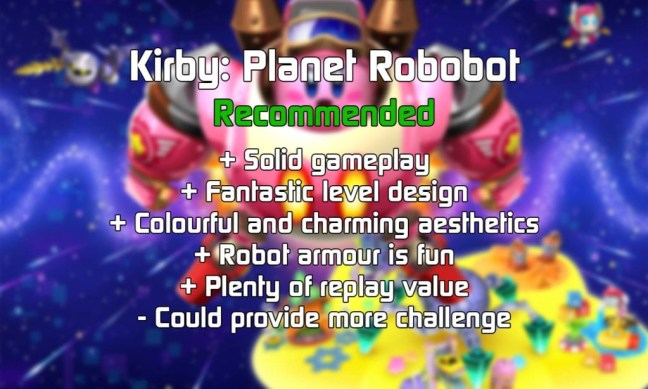 Kirby: Planet Robobot is Recommended!