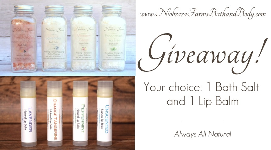 Giveaway! – A Bath Salt and Lip Balm