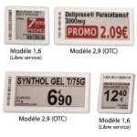 Etiquettes électronique modèles