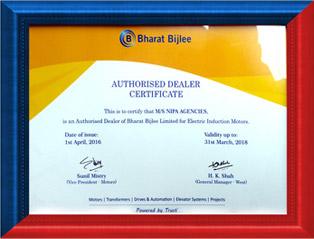 authorised dealer of bharat bijlee motor