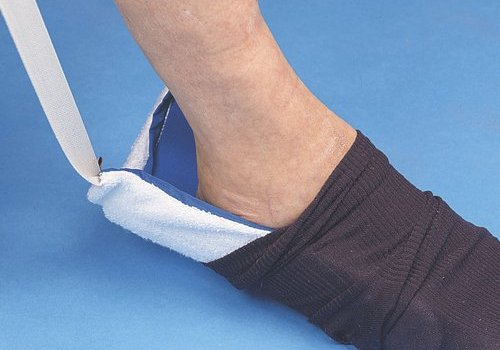Sock aid for people who cannot bend down