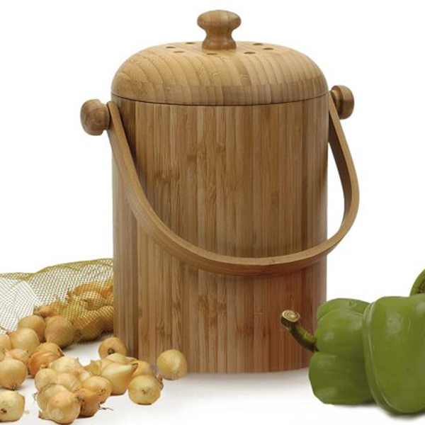 Wooden Pail for Kitchen Waste Composting