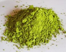 Powdered green tea leaves, green tea powder to use in cooking,