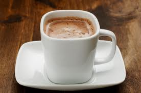hot cocoa drink instead of coffee