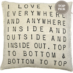 Love you everywhere and anywhere, pillow