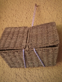 curing home made soaps in a wicker basket in a cool ventilated area