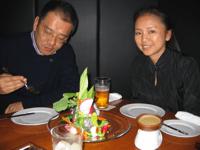 Yoshiki-san and Chie at AW Kitchen
