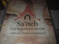 Sa'neh Thai menu