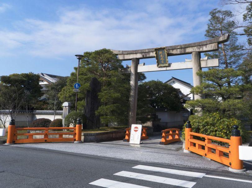 Jōnangū, sanctuaire protecteur des approches méridionales de Kyoto.