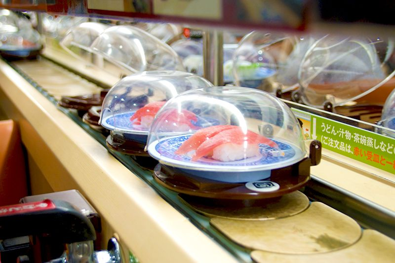 kaiten zushi les sushis sur tapis