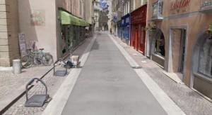 Rue modélisée en 3D par photographie terrestre avec la technologie Acute3D.