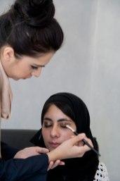 Make-up application demo by Rowena Saloojee