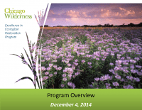Chicago Wilderness Excellence in Ecological Restoration Program (Dec 2014)