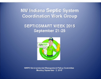 Septic System Work Group and SepticSmart Week (Sep 2015)